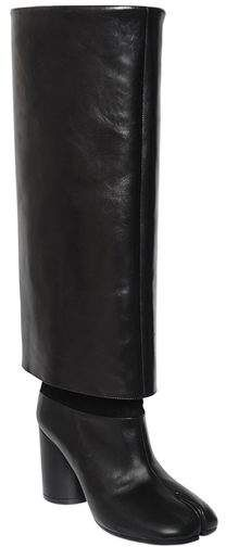 7aaf7b6a8 Maison Margiela 80mm Tabi Brushed Leather Boots - ShopStyle