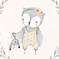 Dream Catcher Owl Print  10X10 by KelliMurrayArt on Etsy