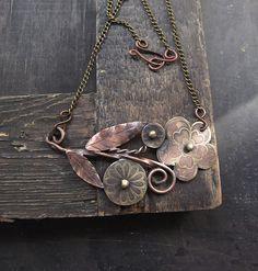 Из меди и латуни. украшения, своими руками, творчество, креатив, рукоделие, цветы, ручная работа, медь, длиннопост