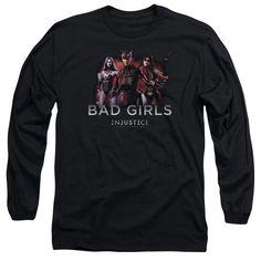 Injustice Gods Among Us Bad Girls Adult Long Sleeve T-Shirt