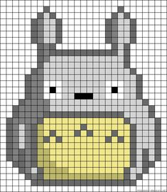 Please only purchase if you are KellyJSimpson! If you want your own, please send me a convo. Beaded Cross Stitch, Cross Stitch Embroidery, Cross Stitch Patterns, Crochet Pixel, Crochet Cross, Pixel Art Totoro, Hama Beads Patterns, Beading Patterns, Ghibli