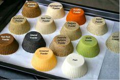 Natural herbal soap colors