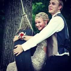 My sister had such a cute idea to do prom pictures on a tire swing. Photo cred: Sara Ayers Photography
