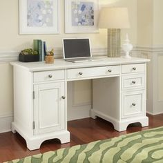 Home Styles Naples White Computer Desk 5530-18