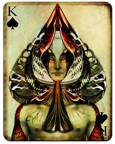 King+of+Spades   Playing Cards - King of Spades by ~cynthiafranca on deviantART