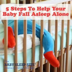 Teaching your baby or toddler to fall asleep alone is the first step to sleeping through the night. We offer 5 sleep training tips to help get you there! #Babyasleep