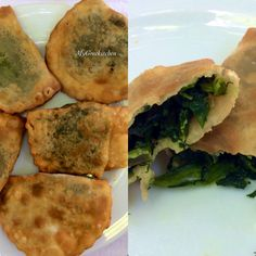 Kaltsounia  Crete Island is well famous for its small cheese or herb pies, called kalitsounia.  INGREDIENTS: For the dough  -1kg flour  -½ tsp salt -1 tbsp olive oil -water, enough so that the dough does not stick in your hands. -½ cup of tsikoudia  For the filling  -1kg spinach or other local greens ( -Fennel - maratho, Wild leek (chive) - agriopraso, Sorrel/Dock - lapatho, Hartwort - kaukalithra,  -1 cup of water -1 onion, chopped -½ fresh mint, chopped - salt, pepper...