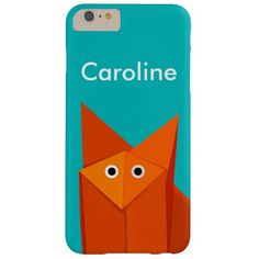 Colorful Cute Cartoon #Origami #Fox #Personalized Barely There #iPhone 6 Plus #Case $47.95 #iphone6plus #iphonecase