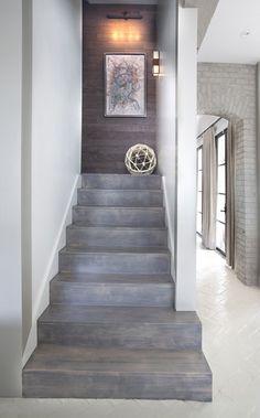 White herringbone, gray woods.  home decor and interior decorating ideas.