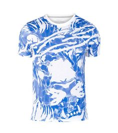 FINALLY+FAMOUS+Short+sleeves+All-over+abstract+print+Short+sleeves+Cotton+for+comfort