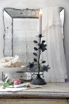 Jeanne D'arc Living Kandelaar Bloemen Jeanne d'Arc Living Candle www.laurasliving.nl