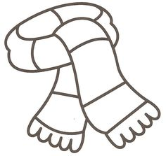 Winter Boots Large Coloring Page Dressing For Winter Pinterest - coloring page winter boots