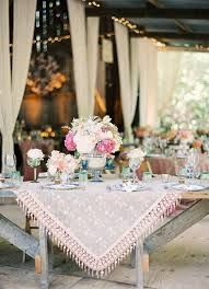Boho-style rustic table setting #bohemianweddings #bohocenterpiece | via hearthandmade