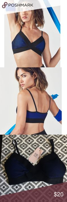 NWT Romina Sports Bra by Fabletics From the fabletics Demi Lovato collection. Love this edgy sports bra, it was just slightly to snug for my boobs! It is definitely supportive and the detailing is really cute. Brand new with tags, excellent quality. Would best fit cup size smaller than 34DD Fabletics Intimates & Sleepwear Bras