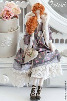 Купить Кэрол - тильда, интерьерная кукла, для интерьера, для декора, для уюта, кукла ручной работы