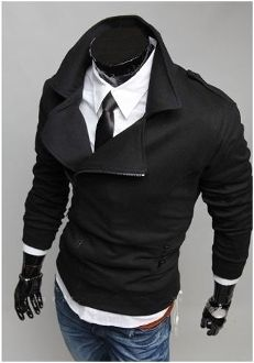 Korean Style Men's Casual Double Breasted Zipper Jacket