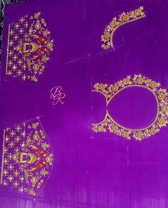 Magam Work Designs, Hand Work Design, Kids Blouse Designs, Simple Blouse Designs, Bridal Blouse Designs, Hand Designs, Blouse Neck Patterns, Pattu Saree Blouse Designs, Back Neck Designs