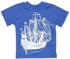 Kids PIRATE SHIP T Shirt by happyfamily on Etsy, $16.00
