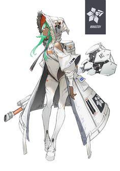 Original Artwork by Female Character Design, Character Design References, Character Design Inspiration, Character Concept, Character Art, Concept Art, Poses References, Sci Fi Characters, Cyberpunk Art