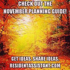 November RA Planning