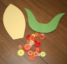 Button Indian Corn Craft  I think you might be able to do with with beans as ywell.