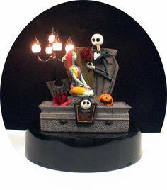 Nightmare before Christmas Wedding Cake topper Sally Jack DISNEY Halloween LITE