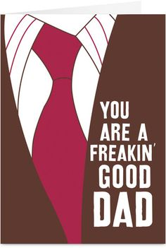 Dads Tie Funny Fathers Day Card