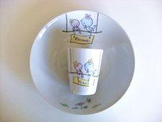Assiette calotte et verre en porcelaine fine française estampillée et certifiée. Toute ma porcelaine est garantie lave-vaisselle et micro-ondes. Les couleurs sont sans plomb s - 16185985