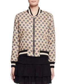 ETOILE ISABEL MARANT Dabney Reversible Cotton Bomber Jacket, Burgundy. #etoileisabelmarant #cloth #