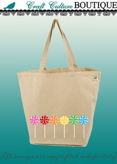 Recycled organic canvas tote bags.  So many cute designs to choose from!