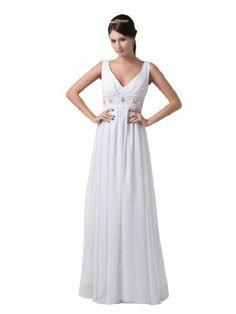 Topwedding V Neck Chiffon Sheath Wedding Dress, S12, Ivory Topwedding,http://www.amazon.com/dp/B00BPTI4XK/ref=cm_sw_r_pi_dp_airrrb0FK2ZNT8D4