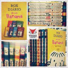 #BOX #DiáriodeUmBanana #6Volumes #Vitrola Coleção Diário de um Banana (6 Volumes) - O grande sucesso da literatura mundial chega na Vitrola em sua versão BOX!  Os livros contam a história de Greg Heffley, um garoto magro e tímido que precisa lidar com os valentões de sua escola. Em seu diário, ele desabafa o que sente e relata as dificuldades do início da puberdade.
