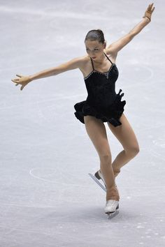 Elene Gedevanishvili of Georgia short program  2013/2014 NHK Trophy-Black Figure Skating / Ice Skating dress inspiration for Sk8 Gr8 Designs