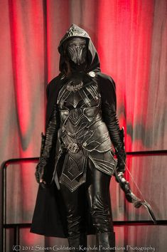 Geek Level 100  Full Nightingale Armor Skyrim's Queen Of The Thieves' Guild, Karliah Cosplay