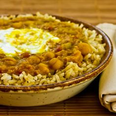 Recipe for Spicy Red Lentil and Chickpea Stew (Paula's Moroccan Lentil Stew).   This recipe was sent to me by a reader, and it turned out to be one of the best vegetarian recipes I'd ever made!   [from Kalyn's Kitchen] #MeatlessMonday  #LowGlycemic  #Vegetarian