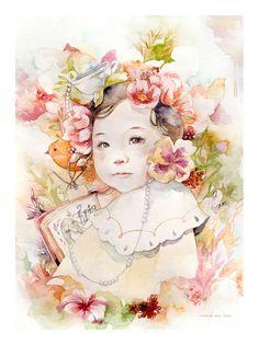 Watercolor: Dreamy Baby Portrait   Cost: $200+ Online: Valerie Ann Chua