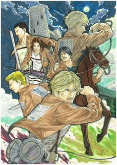 Mike | Nanaba | Gelgar | Lynne | Henning | Thomas | Shingeki no Kyojin | Attack on titan | SNK