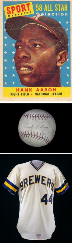 """40 years ago today: """"Hammering"""" Hank Aaron breaks Babe Ruth's career home run record of 714 in the fourth inning of a game against the Dodgers."""