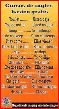 English Tips, Spanish English, English Phrases, English Idioms, English Words, Learn English, Spanish Help, Learn To Speak Spanish, Spanish Words