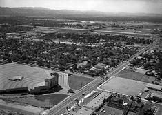 (1964)* - View looking southwest showing the Van Nuys Drive-in Theater located at 15040 Roscoe Boulevard, Van Nuys (Roscoe & Noble, where Vista Middle School is today).