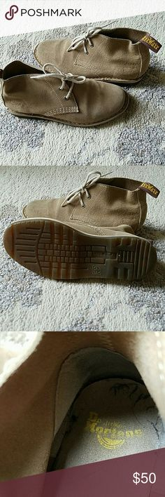 Dr. Marten tan suede high top ladies bootied Barely worn great Dr. Marten booties Dr. Martens Shoes Ankle Boots & Booties