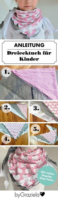 Eine kostenlose Anleitung für ein Dreieckstuch für Kinder findet ihr jetzt bei uns auf dem Blog. Das Tuch kann aus Jersey, Musselin, Webware oder leichtem Sweat genäht werden. Passende Stoffe findet ihr natürlich bei uns im Shop. Viel Spaß mit diesem Freebie!