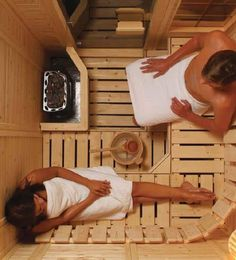 A part of Finnish culture, sauna is a small room designed so as to have heat sessions. In this article, we look into some unexpected benefits of sauna. Saunas, Diy Sauna, 2 Person Sauna, Electric Sauna Heater, Sauna Lights, Building A Sauna, Sauna Benefits, Indoor Sauna, Vertical Doors