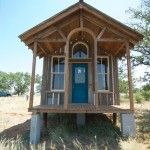 Groom's House + free plans from Tiny Texas Houses. #smallspaceliving