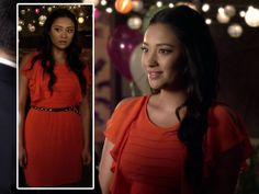 emily pretty little liars orange dress - buy this #dress with http://dressapp.tv