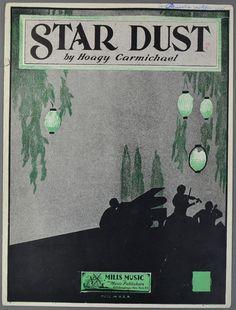 1929 STAR DUST Sheet Music HOAGY CARMICHAEL Piano Solo Version
