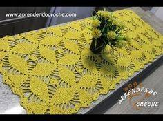Caminho de Mesa Crochê Orquídea - Aprendendo Croche - / Table Runner Crochet Orchid - Learning Croche -