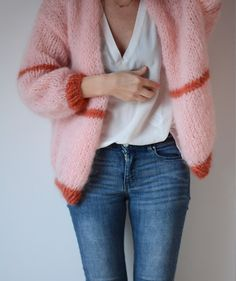 MinnieMie: Pink florence cardigan knitted with Katia Ingenua by @Annick1509 !