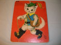 """Vintage Puzzle - """"Puss in Boots"""" 1965 - Made in U.S.A., Midcentury, Great Image! #Saalfield"""