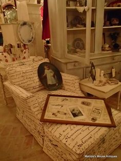 Matilda's Mouse Antiques slipcover and serving tray